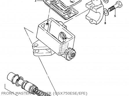 Suzuki Gsx750 1983 (esd) parts list partsmanual partsfiche