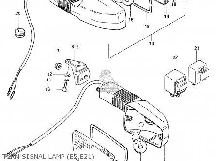 Suzuki Gsx750 1985 (ef) parts list partsmanual partsfiche
