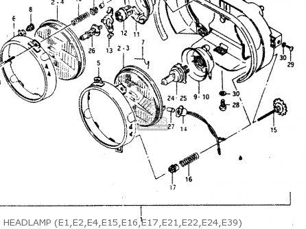 Suzuki Gsx750 1986 (rg) parts list partsmanual partsfiche