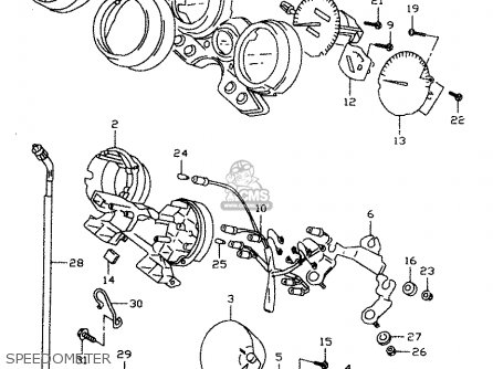 Suzuki Gsx750 1998 (w) parts list partsmanual partsfiche