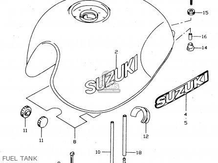 Suzuki Gsx750 1999 (x) parts list partsmanual partsfiche