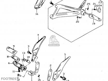 Suzuki Gsx750 2000 (y) parts list partsmanual partsfiche