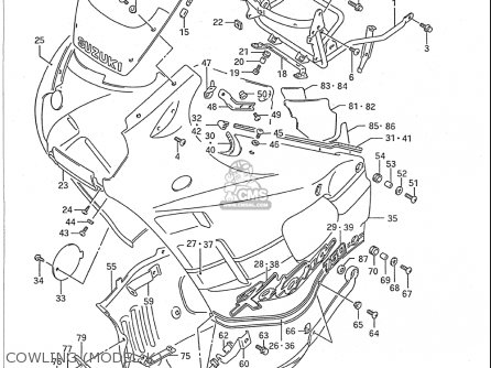 Suzuki Gsx750 F Katana 1989-1996 (usa) parts list