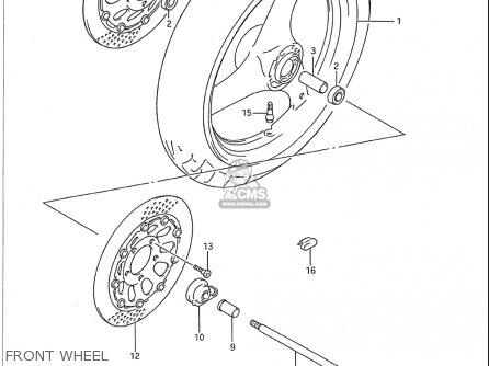 Suzuki Gsx750 F Katana 1989-1996 (usa) parts list
