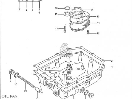 Service manual [1989 Suzuki Swift Oil Pan Removal