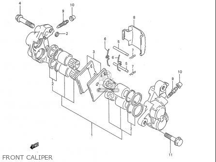 Suzuki Gsx750 F Katana 1997 (usa) parts list partsmanual
