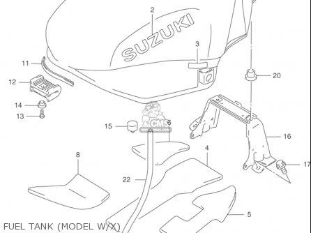 Suzuki Gsx750 F Katana 1998-2003 (usa) parts list