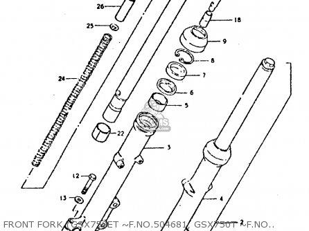 Suzuki GSX750E 1980 (T) (01 02 04 6 16 17 18 21 22 24 25