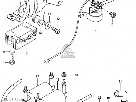 Suzuki Gsx750e 1985 (f) (e01 E02 E21 E24) parts list