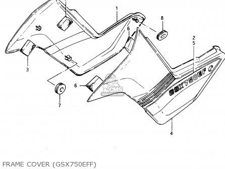 Suzuki GSX750E 1985 (F) (E01 E02 E21 E24) parts lists and
