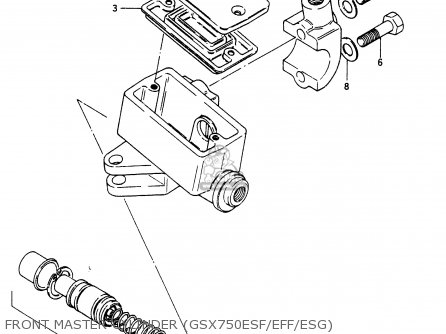 Suzuki GSX750ES 1986 (G) (E01 E2 E4 E6 E15 E16 17 22 24 25