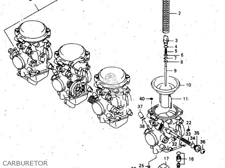 Suzuki GSX750F 2000 (Y) parts lists and schematics
