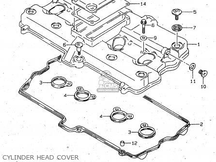 Suzuki Gsx750f 2000 (y) parts list partsmanual partsfiche