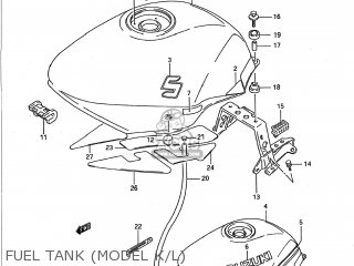 Suzuki Gsx750f Katana 1989 (k) Usa (e03) parts list