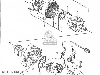 Suzuki Gsx750f Katana 1993 (p) Usa (e03) parts list