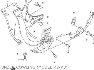 Suzuki GSX750F KATANA 1999 (X) USA (E03) parts lists and
