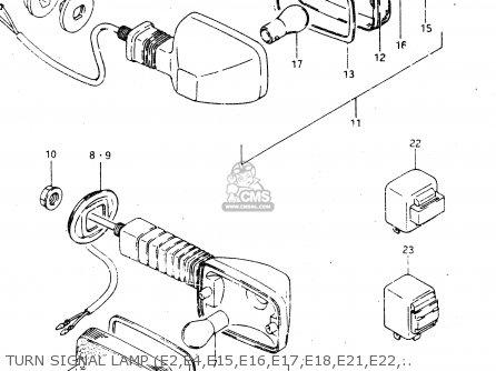 Suzuki GSX750R 1986 (G) GENERAL EXPORT (E01) parts lists