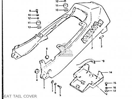 Suzuki Gsx750s 1984 (e) United Kingdom (e02) parts list