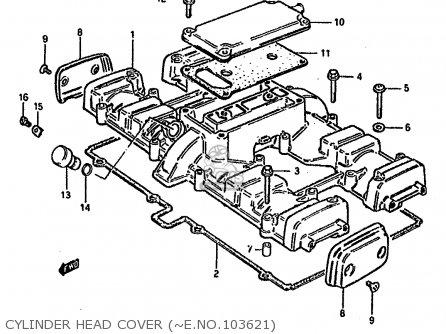 Suzuki GSX750S KATANA 1982 (Z) 1 2 4 6 15 16 17 18 21 22