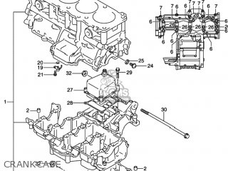 Suzuki GSXR1000 2001 (K1) USA (E03) parts lists and schematics