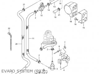 Suzuki GSXR1000 2003 (K3) USA (E03) parts lists and schematics