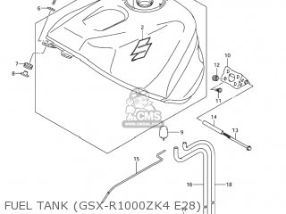 Suzuki Gsxr1000 2003 (k3) Usa (e03) parts list partsmanual