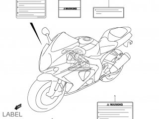 Suzuki GSXR1000 2007 (K7) USA (E03) parts lists and schematics