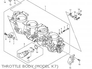 Suzuki GSXR1000 2008 (K8) USA (E03) parts lists and schematics