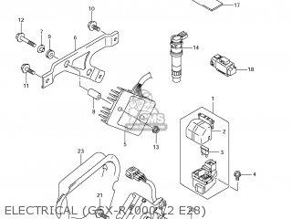 Suzuki GSXR1000 2012 (L2) USA (E03) parts lists and schematics