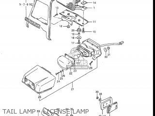 Suzuki Gsxr1100 1986 (g) Usa (e03) parts list partsmanual