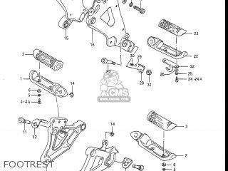 Suzuki GSXR1100 1987 (H) USA (E03) parts lists and schematics
