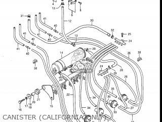 Suzuki GSXR1100 1988 (J) USA (E03) parts lists and schematics