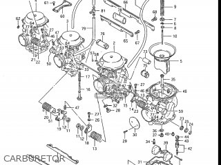 Suzuki GSXR1100 1988 (J) USA (E03) parts lists and schematics