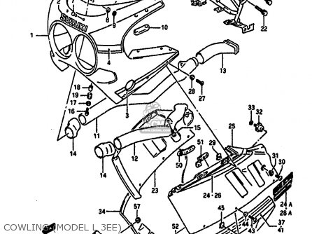 Suzuki Gsxr1100 1989 (k) parts list partsmanual partsfiche