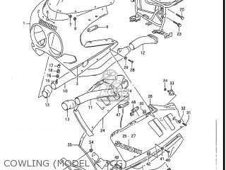 Suzuki Gsxr1100 1989 (k) Usa (e03) parts list partsmanual