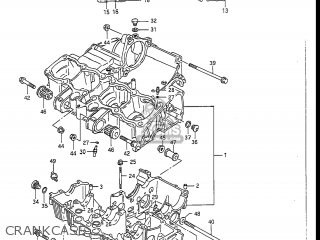 Suzuki GSXR1100 1989 (K) USA (E03) parts lists and schematics