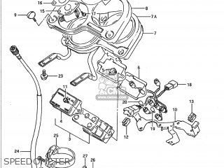 Suzuki GSXR1100 1992 (N) USA (E03) parts lists and schematics