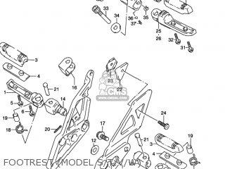 Suzuki GSXR1100W 1995 (S) USA (E03) parts lists and schematics