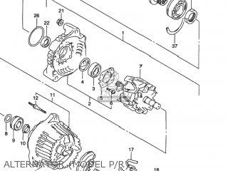 Suzuki GSXR1100W 1997 (V) USA (E03) parts lists and schematics