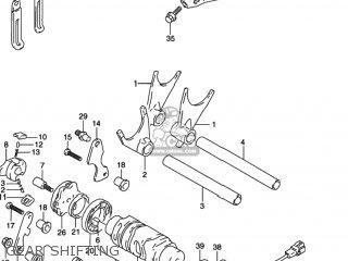 Suzuki Gsxr1100w 1997 (v) Usa (e03) parts list partsmanual