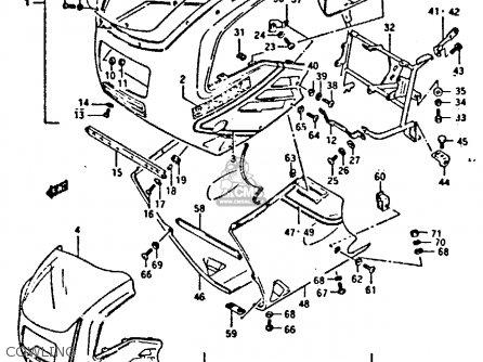 Suzuki Gsxr400 1987 (h) General Export (e01) parts list