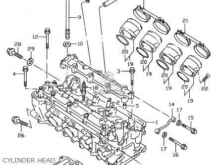 Suzuki Gsxr600 1997 (v) (e02 E04 E18 E22 E24 E25 E34 E39