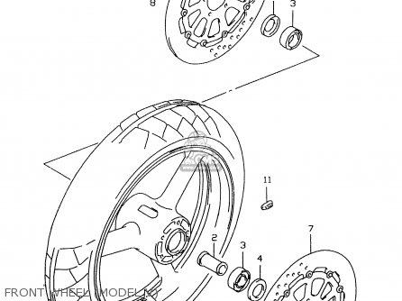 Suzuki Gsxr600 2000 (y) parts list partsmanual partsfiche