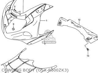Suzuki GSXR600 2001 (K1) USA (E03) parts lists and schematics