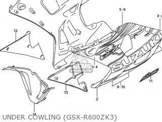 Suzuki GSXR600 2003 (K3) USA (E03) parts lists and schematics