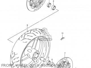 Suzuki GSXR600 2004 (K4) USA (E03) parts lists and schematics