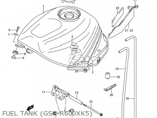 Suzuki GSXR600 2005 (K5) USA (E03) parts lists and schematics