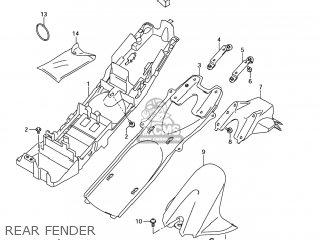 Suzuki GSXR600 2007 (K7) USA (E03) parts lists and schematics