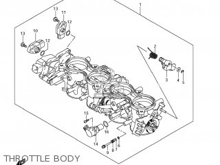 Suzuki GSXR600 2011 (L1) USA (E03) parts lists and schematics
