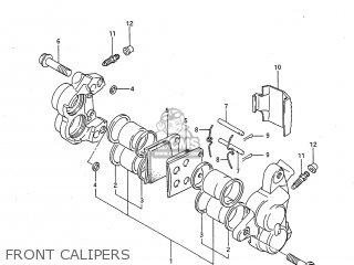 Suzuki GSXR750 1986 (G) USA (E03) parts lists and schematics